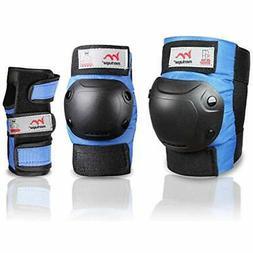 Merkapa Knee Pads Elbow Wrist Guards 3 In 1 Protective Gear