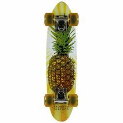 Paradise Micro Cruiser Skateboard Pineapple 6 x 23 MAHOGANY