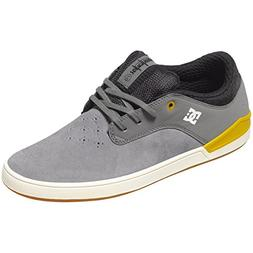 DC Mens Mikey Taylor 2 Skate Shoes,Grey/Yellow, 11.5D