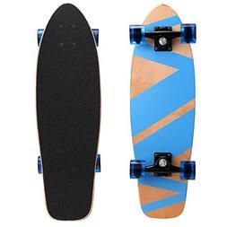 Ancheer Mini Cruiser Skateboard Canadian Maple Wood Skate Bo