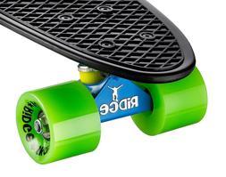 """Mini Cruiser Skateboard Complete 22"""" Mix It Up Board, Unique"""
