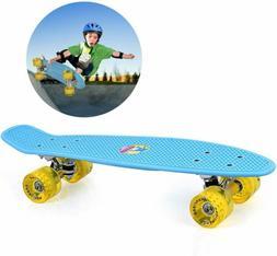 GASACIODS 22 Inch Mini Cruiser Skateboard, Complete Plasti