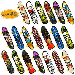 BeautyMood 24 pcs Professional Mini Finger Skateboard, Creat