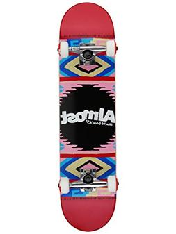 Almost Native American FP Skateboard Complete,7.5FU,Red