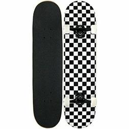 NEW KPC Pro Skateboard Complete Black and White Checker FREE