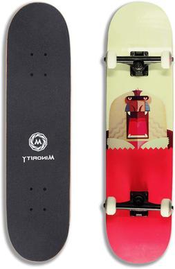 NEW MINORITY Skateboard Complete 32 x 8, Maple Deck, 7 Layer