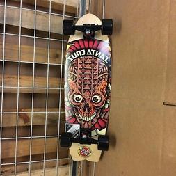 New Santa Cruz Tiki Skull Shark Cruzer Complete Skateboard -
