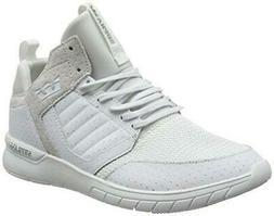 NIB Supra Men's Method White-White Leather Mesh Sneaker Shoe