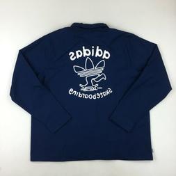 NWT Adidas Skateboarding Navy Blue & White Ankeny Jacket Ful