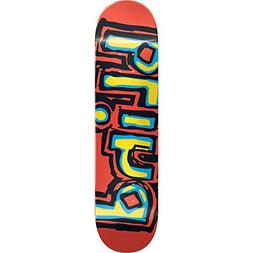 Blind Og Logo Skateboard Deck -7.0 Red W/Yellow/Blu Deck - A