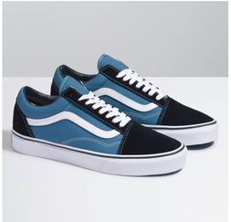 Vans Old Skool Navy Skateboarding Shoes Classic Canvas/Suede