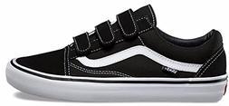 Vans Old Skool V Pro Black/White Men's Classic Skate Shoes S