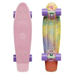 "Penny Board Color Splash 22"" x 6"" Plastic Cruiser Skateboard"