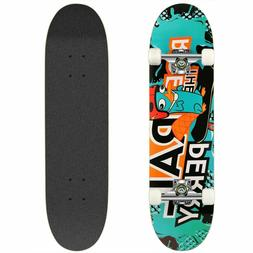 """Ancheer Pink Complete Skateboard Stained Pink 8.1"""" Skateboar"""