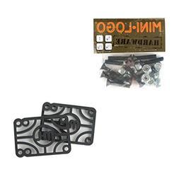 Mini Logo Powell Skateboard Hardware and Risers Combo 1.25in