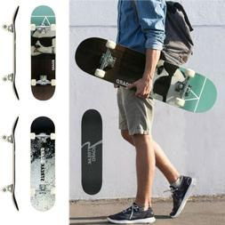 Pro Complete Skateboard Double Kick Deck Concave Skateboards