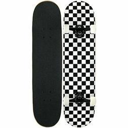 KPC Pro Skateboard Complete Black and White Checker