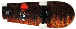 PRO Style Skateboard Complete Red Flame Free Shipping!!