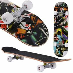Professional Adult Skateboard Complete Wheel Truck Maple Dec