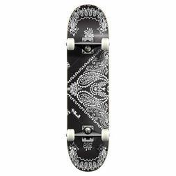 Punked Bandana Black Standard Complete Skateboard - 7.5