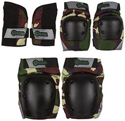 Sector 9 Junior Pursuit Pad Set Protective Gear, Camouflage,