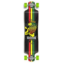 Rasta graphics Lowrider Drop down through Longboard Complete