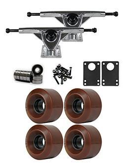 TGM Skateboards RKP Raw Longboard Trucks Wheels Package 60mm
