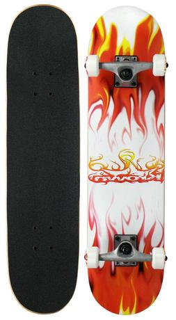 Krown Rookie Flame Complete Skateboard Red/White