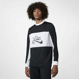 Nike SB Dry Top Long Sleeve Mesh T-Shirt AA1073-010 Black Wh