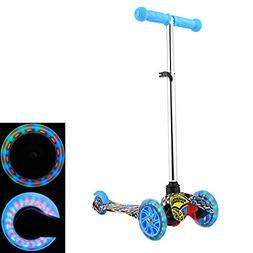 ANCHEER Scooter for Kids Boys Girls, Big Wheel Adjustable Ki