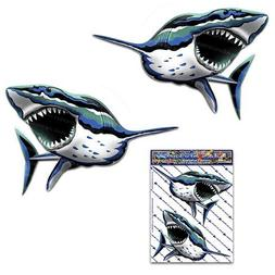 Shark Fish Sea Surf Animal Small Decal Sticker for Car Truck