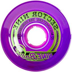 Sector 9 Top Shelf Nine Balls Skateboard Wheel, Purple, 72mm