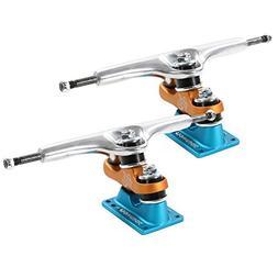 """Gullwing Sidewinder II Skateboard Double Kingpin Trucks, 9"""""""