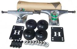 SILVER SKATEBOARD Trucks & Wheels PACKAGE ABEC 9 + GRIPTAPE