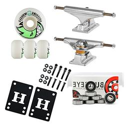 Independent Silver 129mm Truck Package Skateboard Spitfire W