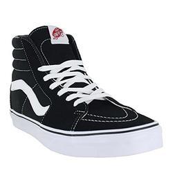 Vans Unisex Sk8-Hi Black/Black/White Skate Shoe 8 Men US / 9