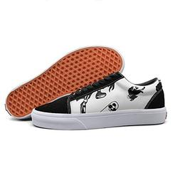 Armsttm Women Skate Shoes black skull skateboarding Classic