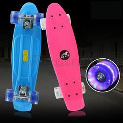 Skateboard 22 inch Complete Mini Cruiser Retro Skateboard fo