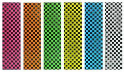 """Skateboard Checker Grip Tape 9"""" x 33"""" Multiple Colors to Cho"""