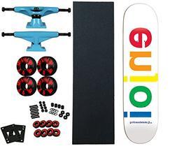 "Enjoi 7.75"" Pro Skateboard Complete with Tensor Trucks/Bones"