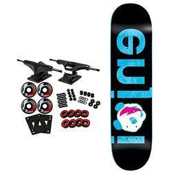 """Enjoi Skateboard Complete No Brainer Black/Blue 8.0"""""""