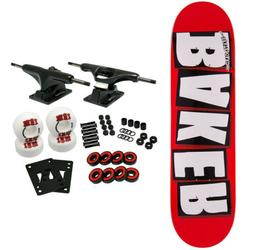 """Baker Skateboard Complete Brand Logo Red/White 7.3"""" x 29.5"""""""