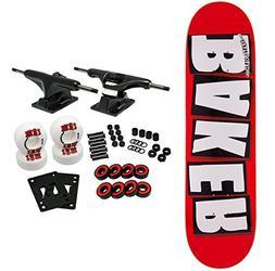 """Baker Skateboard Complete Brand Logo White 8.25"""""""