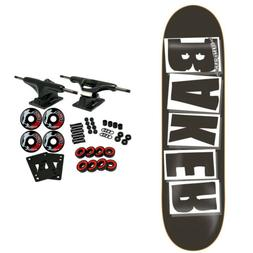 """Baker Skateboard Complete Logo Black/White 8.125"""""""