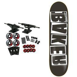 """Baker Skateboard Complete Logo Black/White 8.475"""" OG Shape"""