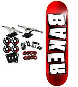 """Baker Skateboard Complete Brand Logo FOIL RED 8.5"""""""