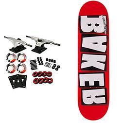 """Baker Skateboard Complete Logo White 8.125"""""""