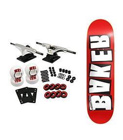 """Baker Skateboard Complete Logo White 8.0"""""""