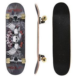 ChromeWheels 31 inch Skateboard Complete Longboard Double Ki
