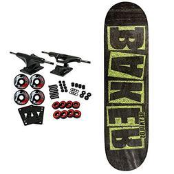 "Baker Skateboard Complete Reynolds Brand Name Chalk 7.75"""